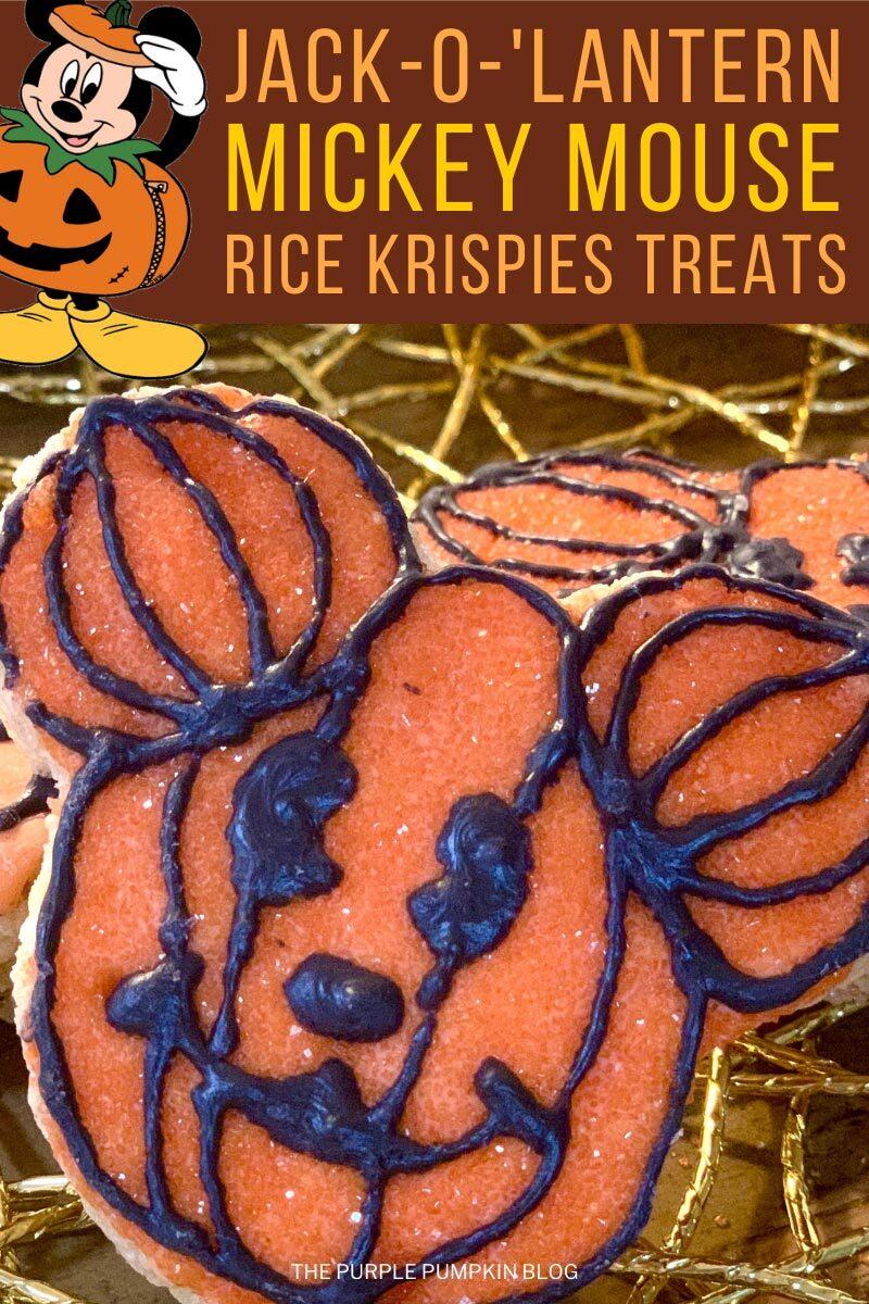 Jack-o'-Lantern Mickey Mouse Rice Kripsies Treats