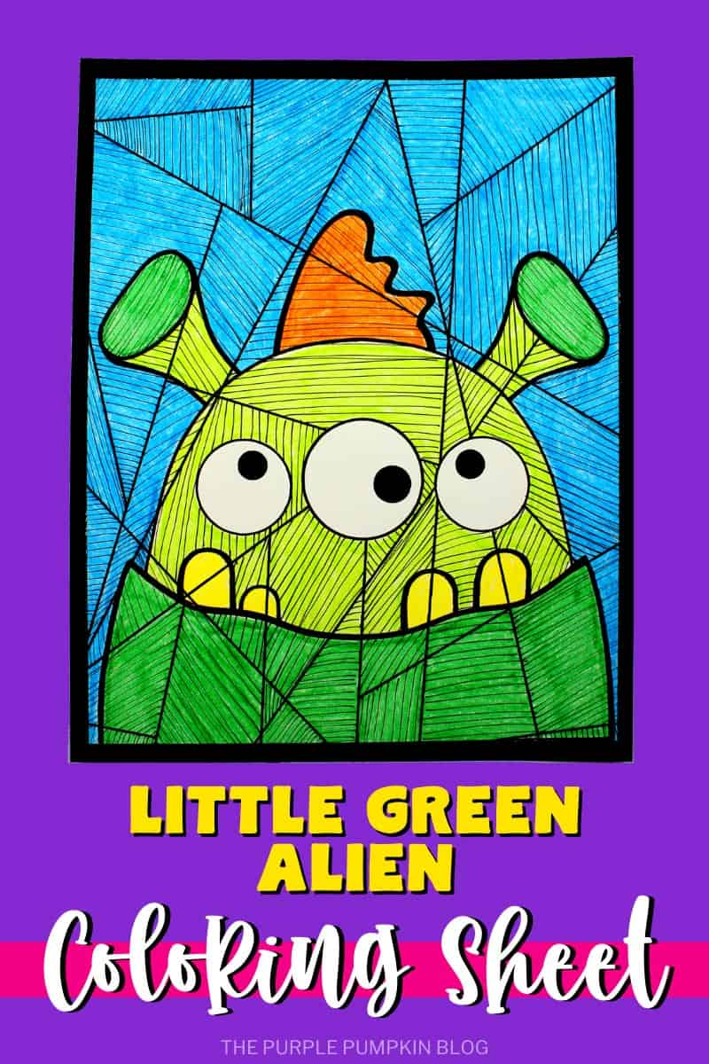 Little-Green-Alien-Coloring-Sheet