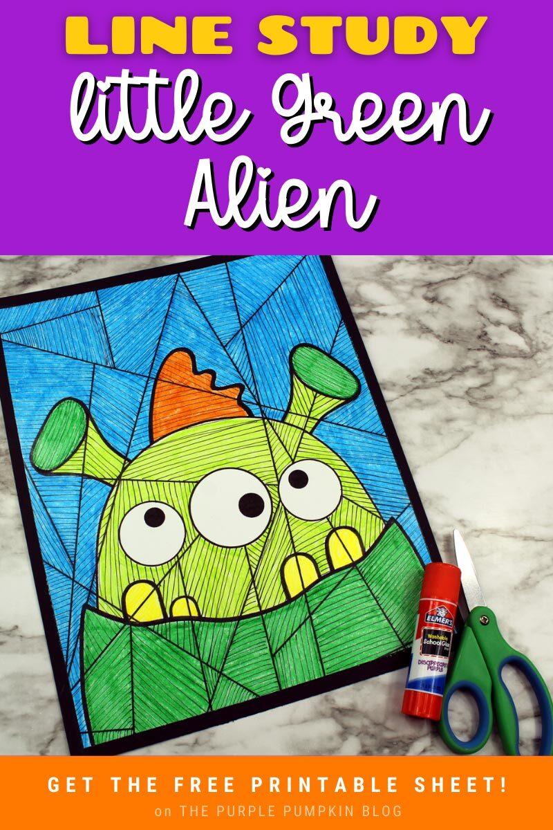 Little Green Alien Line Study