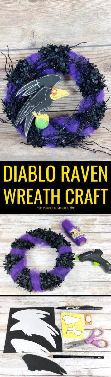How to make a Disney Diablo Raven Wreath