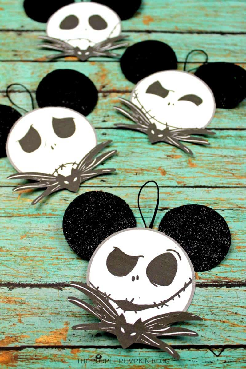 Many Faces of Jack Skellington Craft