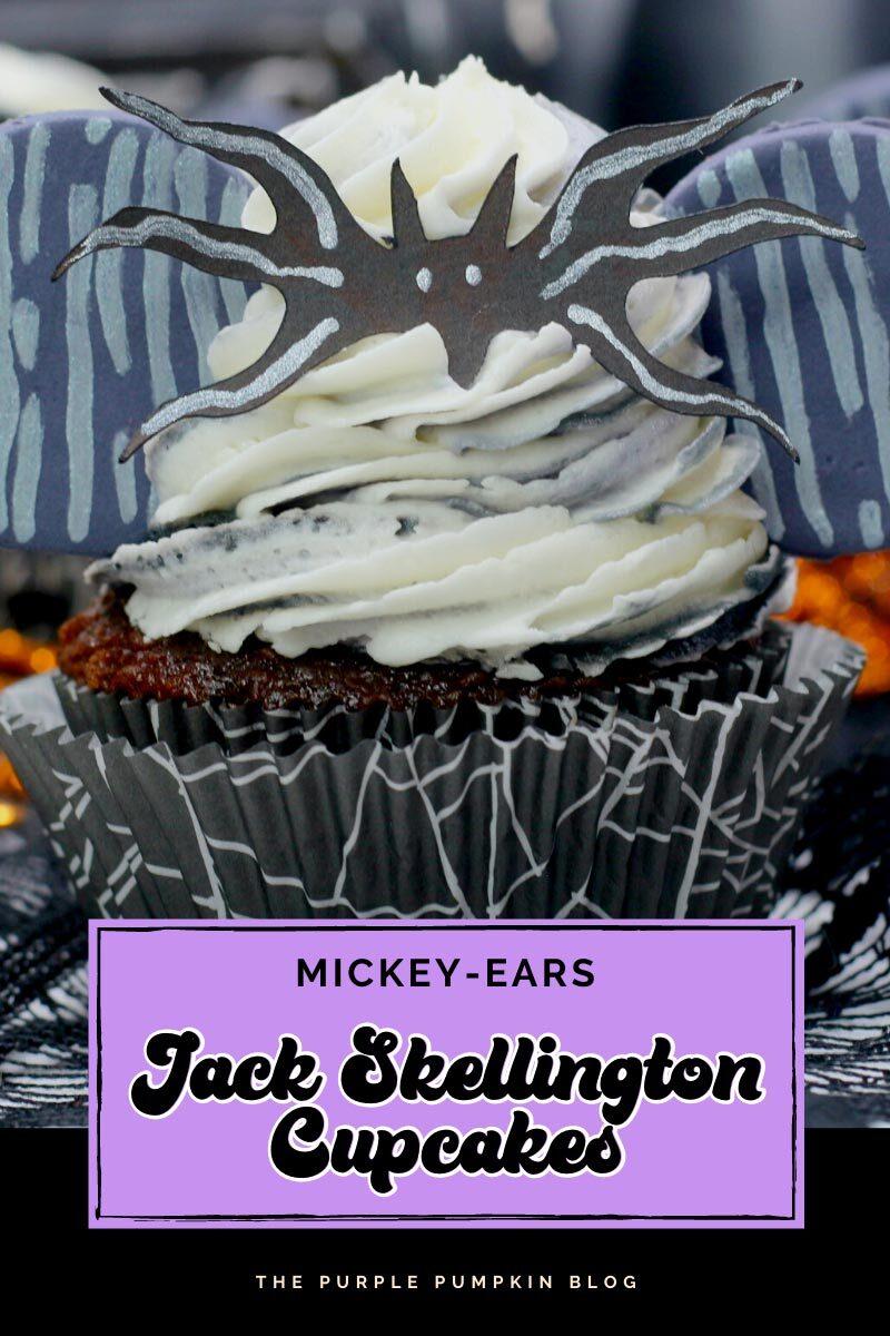 Mickey Ears Jack Skellington Cupcakes