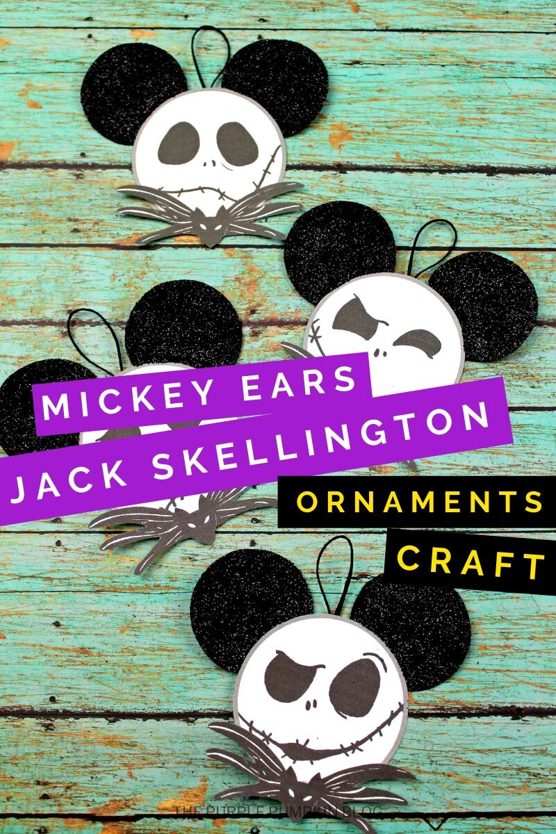 Mickey Ears Jack Skellington Ornaments Craft