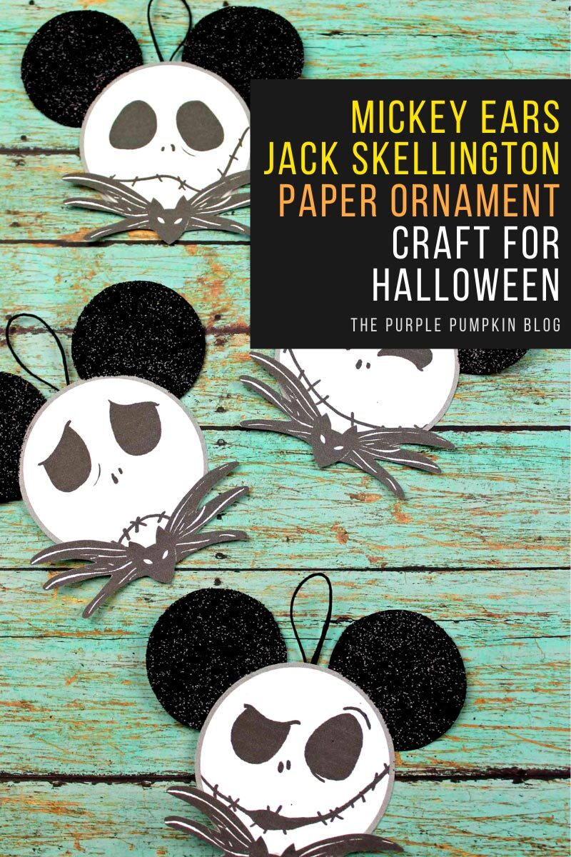 Mickey Ears Jack Skellington Paper Ornament Craft for Halloween