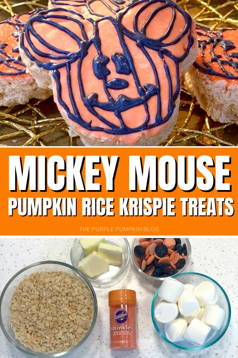 Jack-o'-Lantern Mickey Mouse Rice Krispies Treats