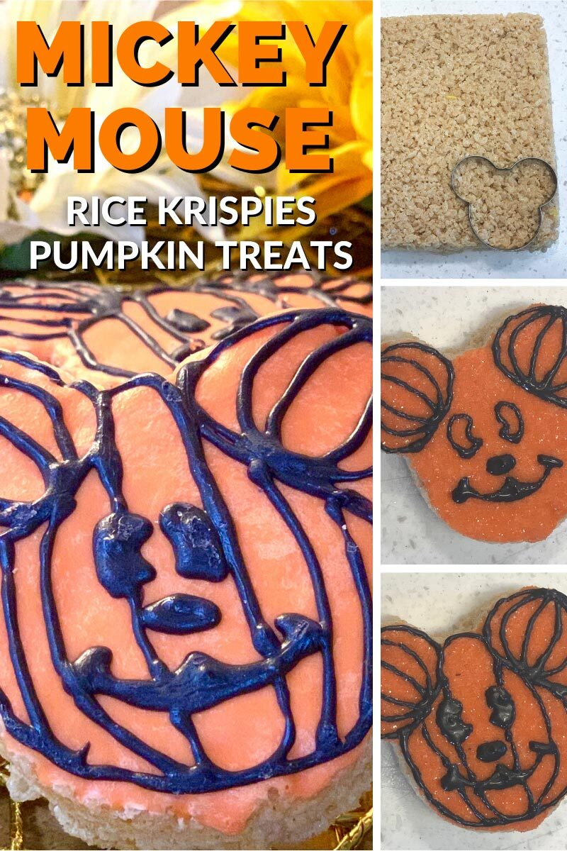 Mickey Mouse Rice Krispies Pumpkin Treats