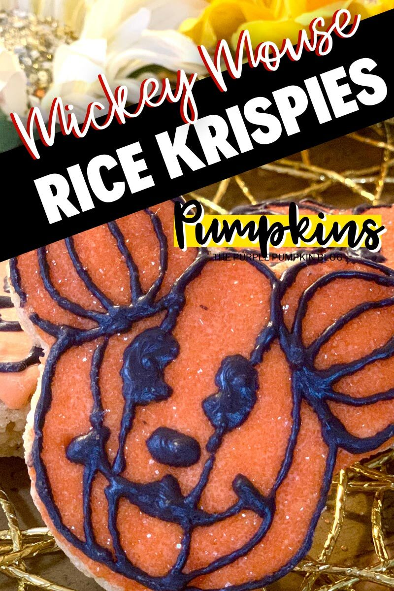 Mickey Mouse Rice Krispies Pumpkins