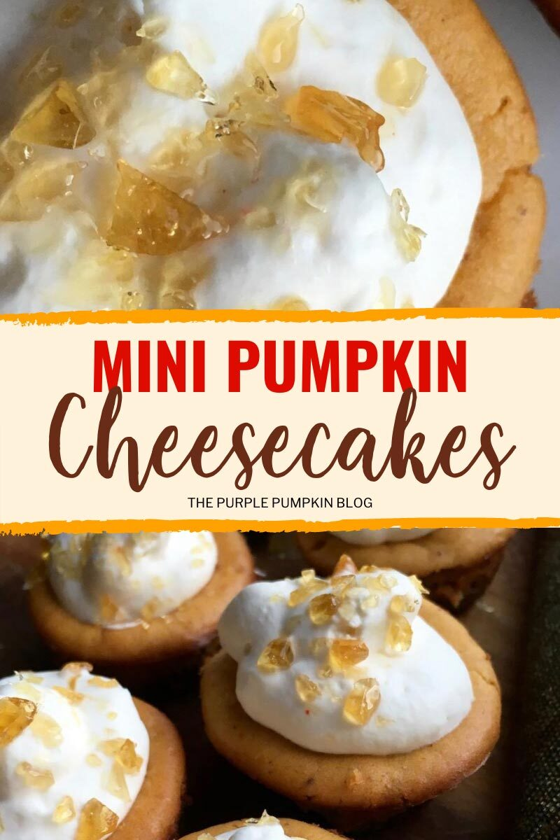 Mini Pumpkin Cheesecakes for Fall