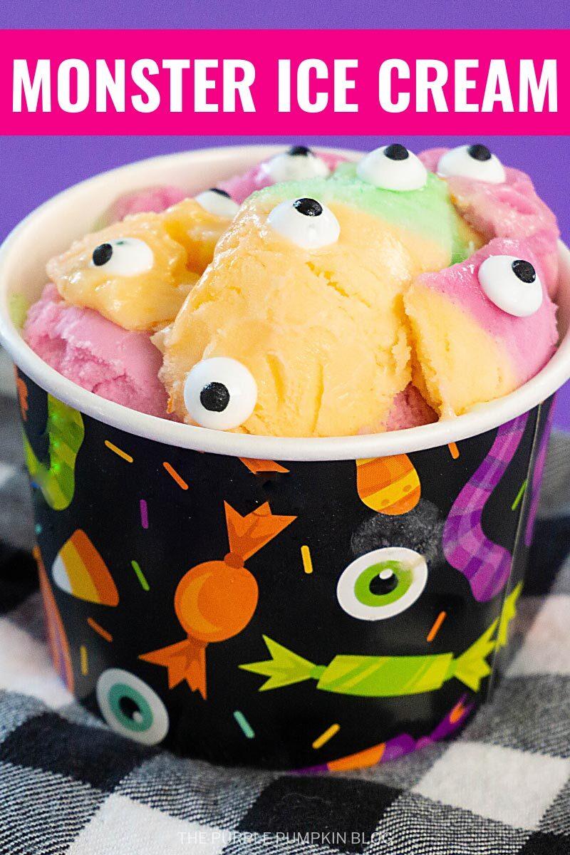 Monster Ice Cream Cups