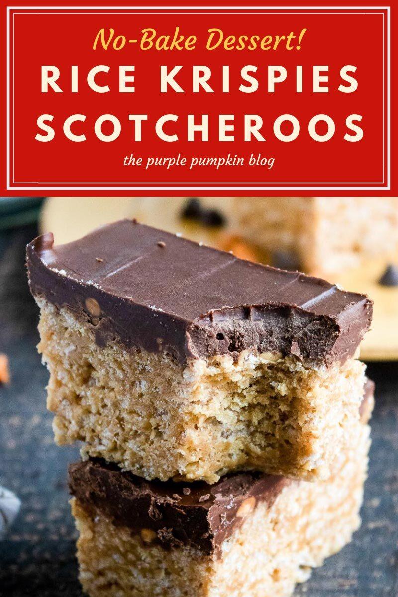 No-Bake Dessert Rice Krispies Scotcheroos