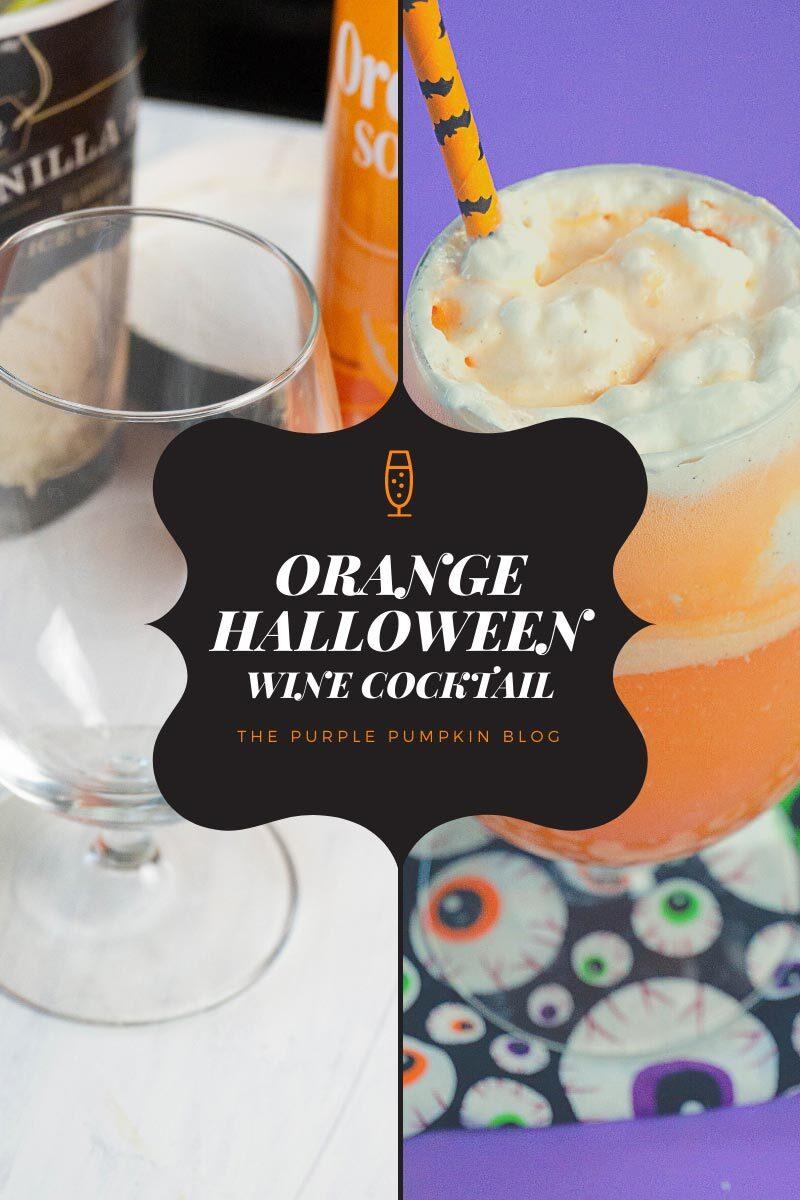 Orange Halloween Wine Cocktail