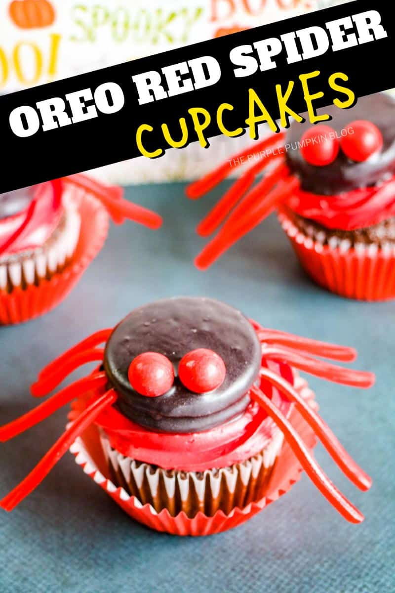 Oreo-Red-Spider-Cupcakes