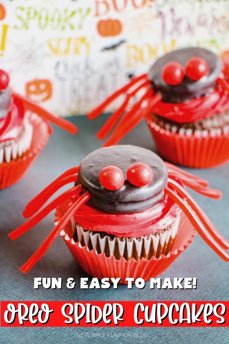 Oreo Spider Cupcakes - Fun & Easy to Make!