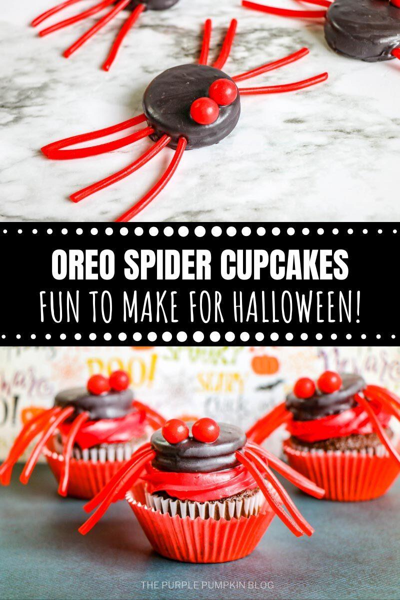 Oreo Spider Cupcakes - Fun to Make for Halloween!