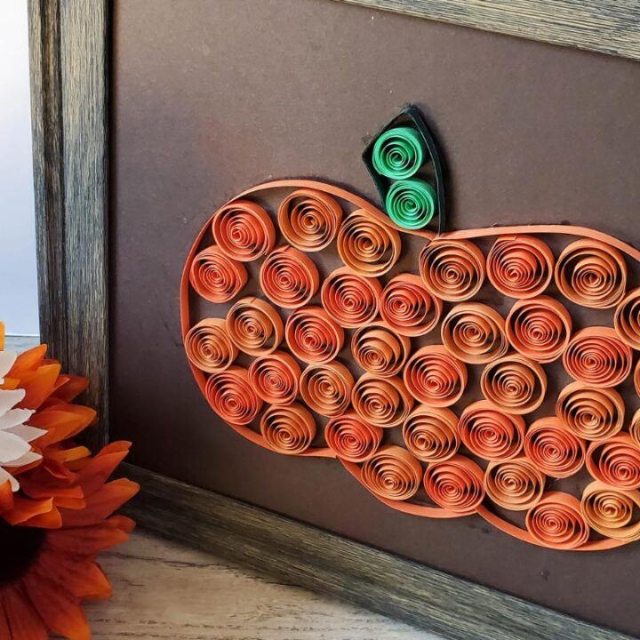 Paper Quill Pumpkin Craft