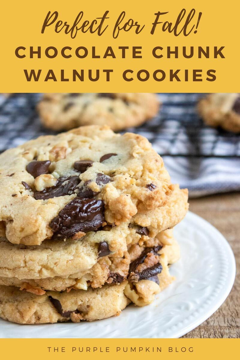 Perfect for Fall! Chocolate Chunk Walnut Cookies