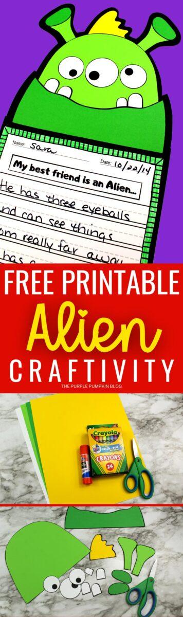 Free Printable Alien Craftivity