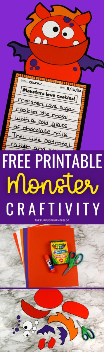 Winged Monster Halloween Craft & Creative Writing Prompt