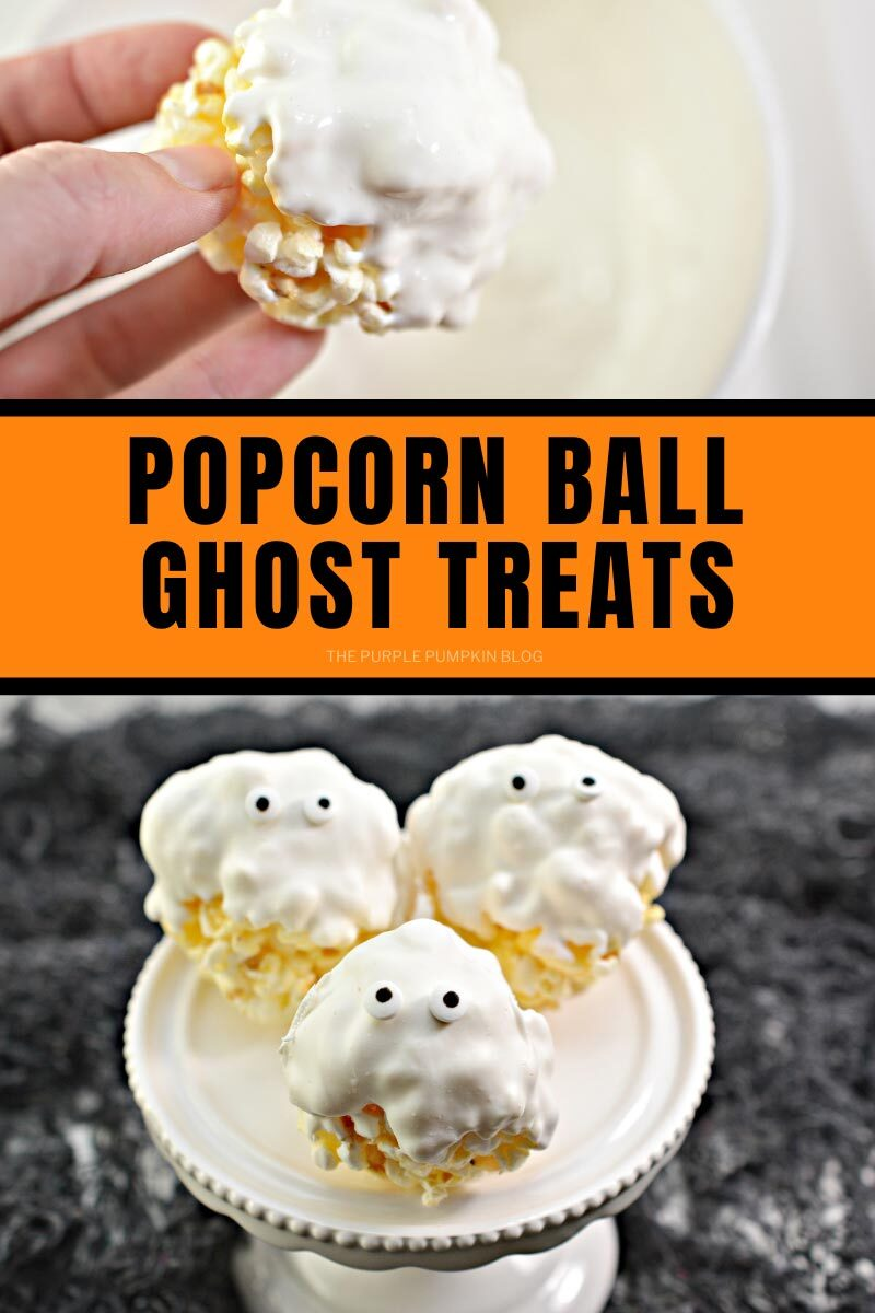 Popcorn Ball Ghost Treats