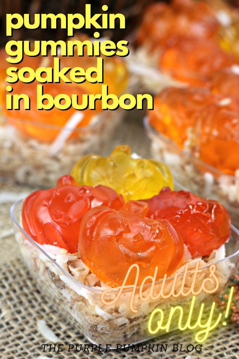Pumpkin Gummies soaked in Bourbon