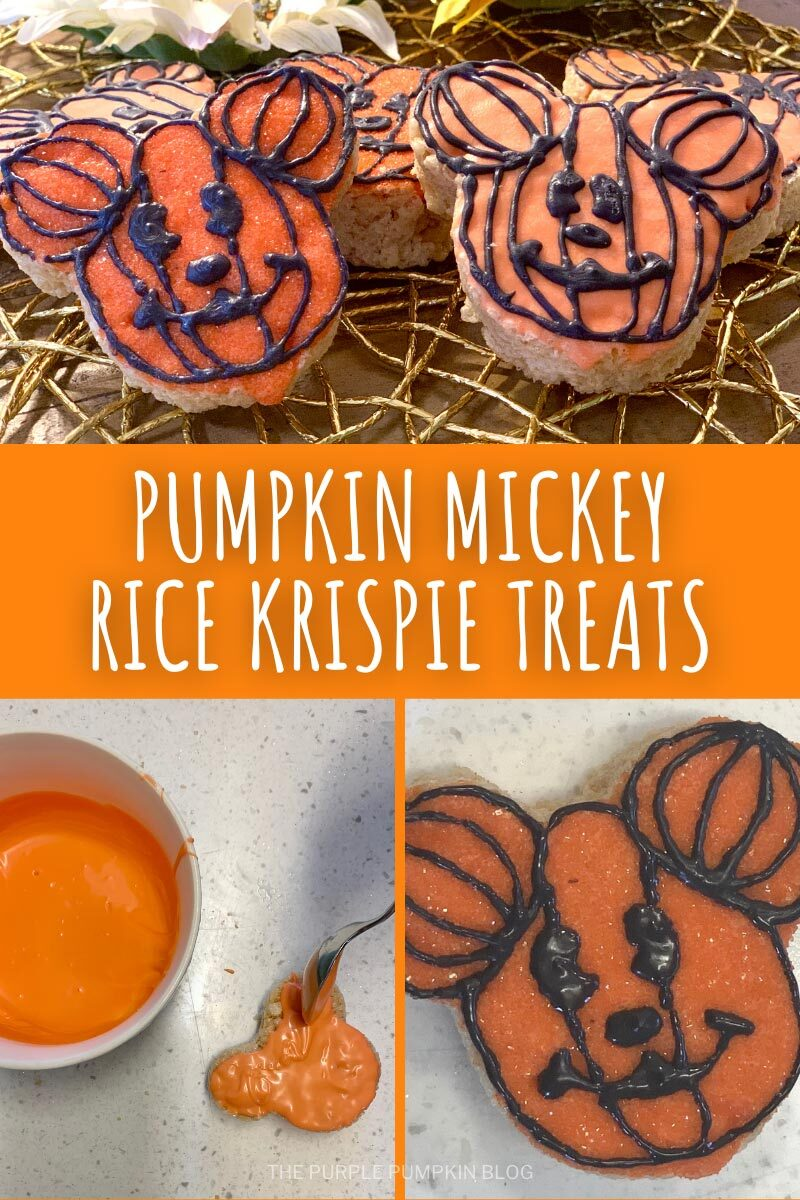 Pumpkin Mickey Rice Krispie Treats