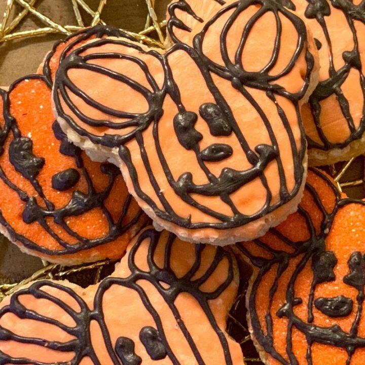 Pumpkin Mickey Rice Krispies Treats