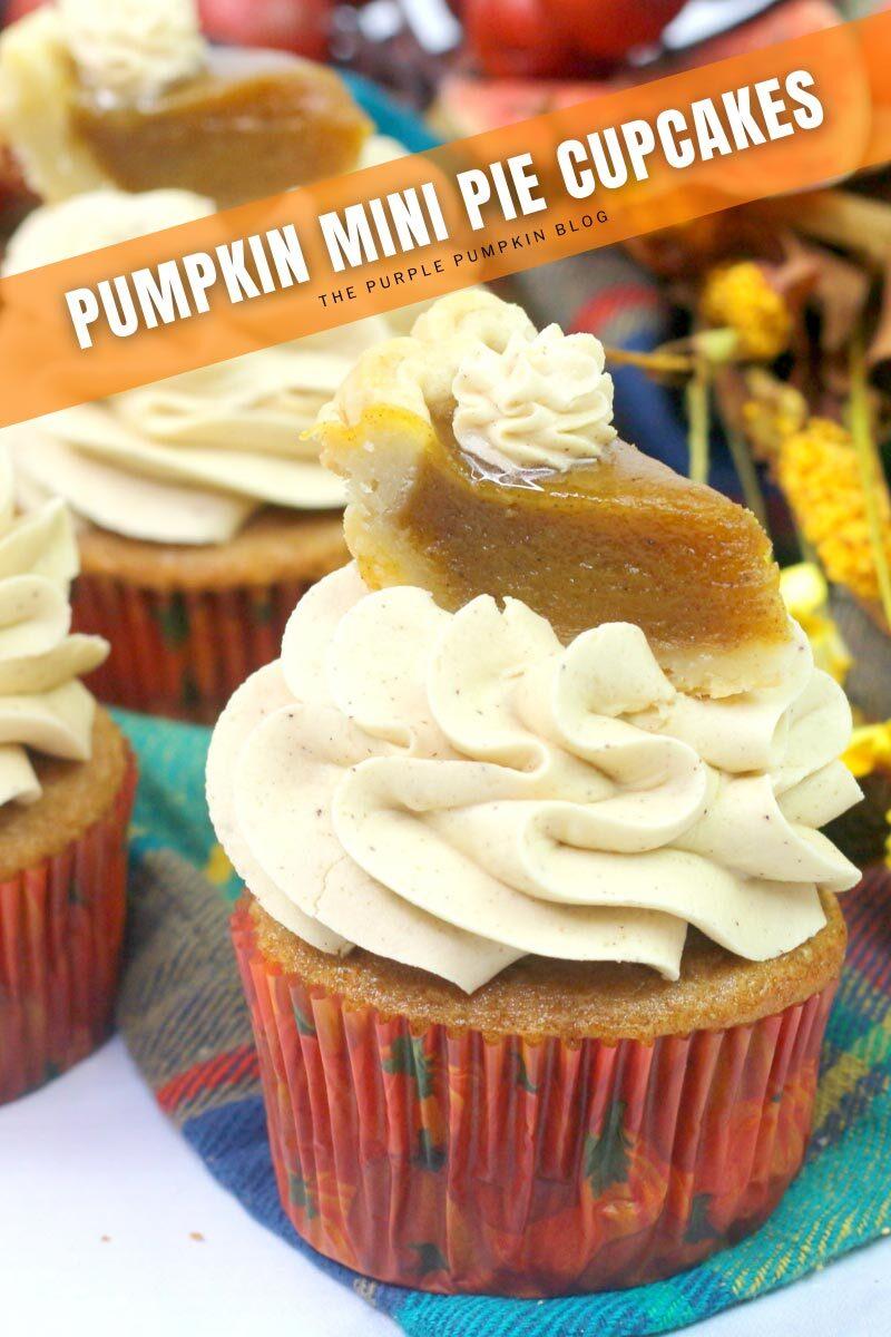 Pumpkin Mini Pie Cupcakes