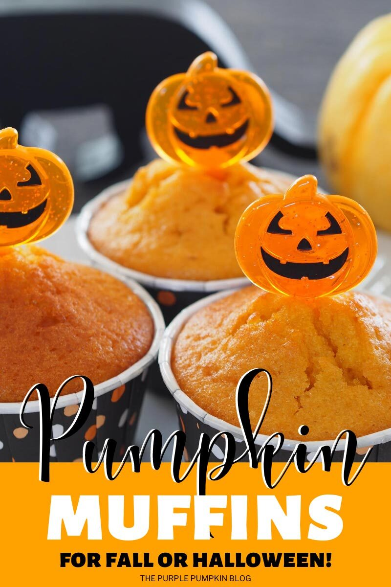 Pumpkin Muffins for Fall or Halloween