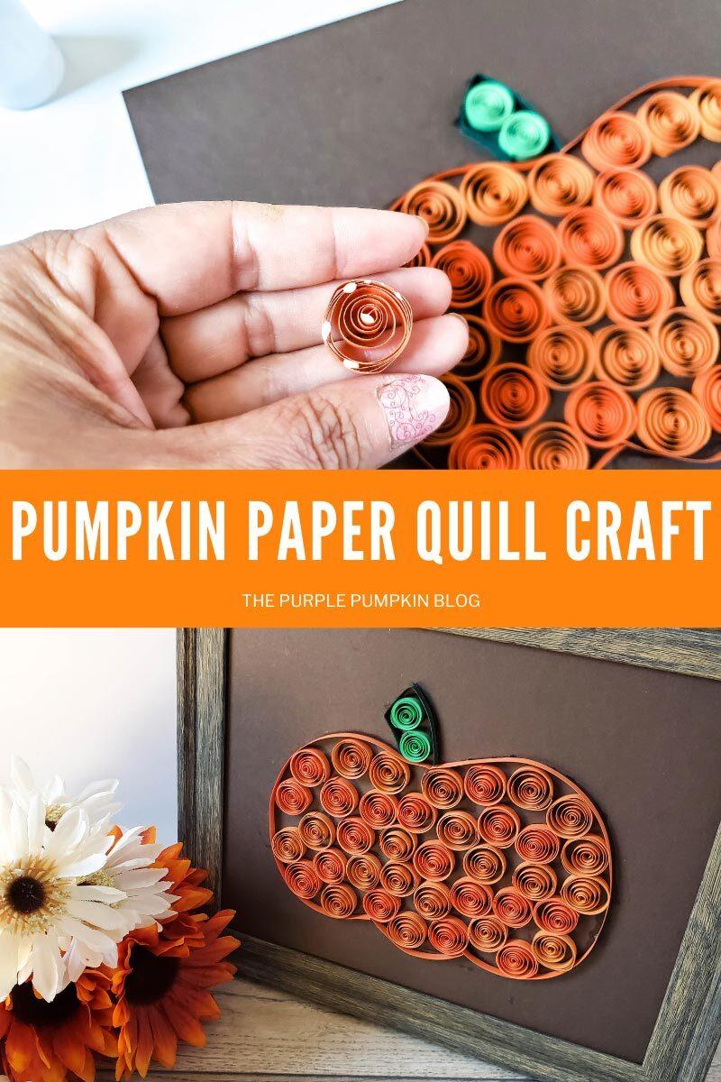 Pumpkin Paper Quill Craft