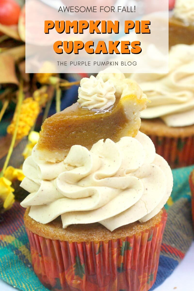 Pumpkin Pie Cupcakes - Awesome for Fall!