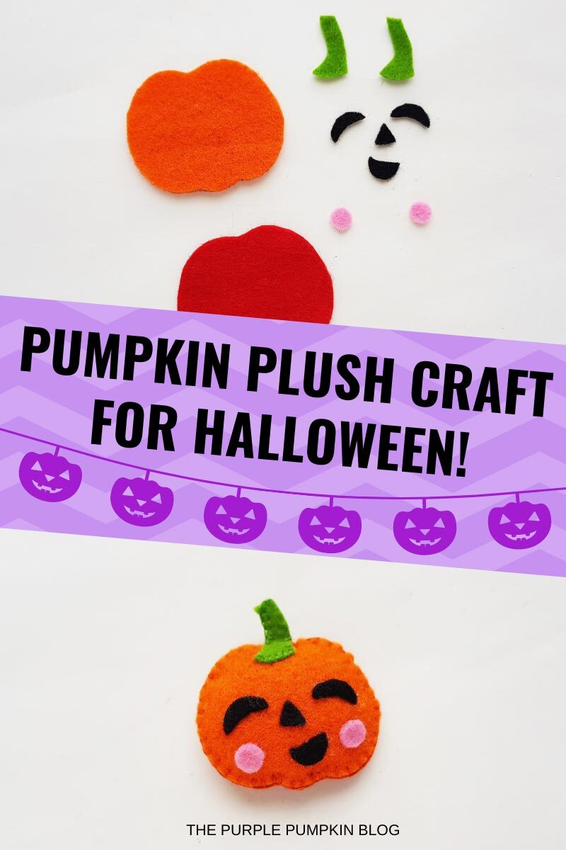 Pumpkin Plush Craft for Halloween