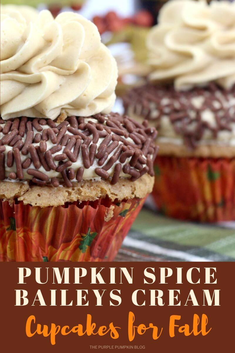 Pumpkin Spice Bailey's Cream Cupcakes for Fall