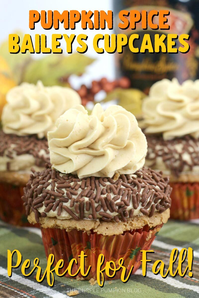 Pumpkin Spice Baileys Cupcakes - Perfect for Fall!