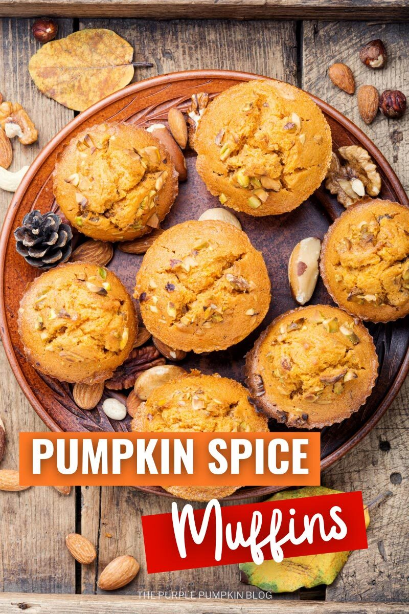 Pumpkin Spice Muffins with Chopped Nuts
