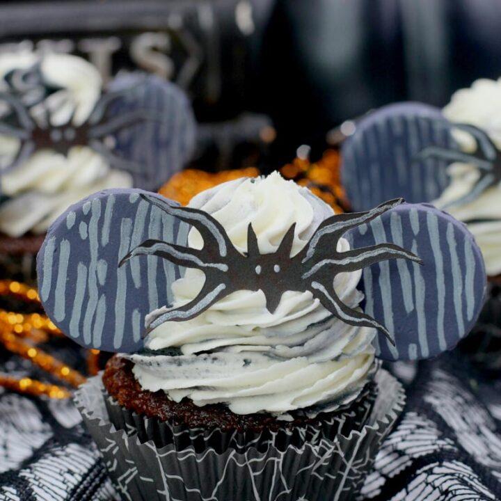 Chocolate Jack Skellington Cupcakes