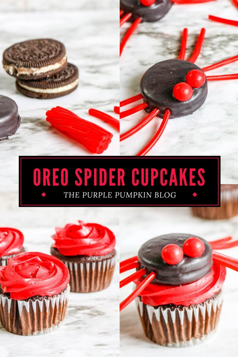 Red Spider Cupcakes for Halloween