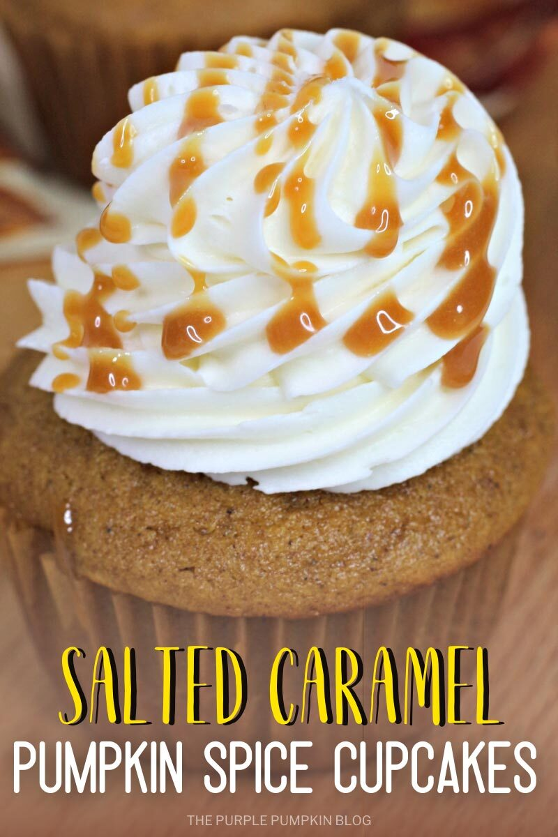 Salted Caramel Pumpkin Spice Cupcakes