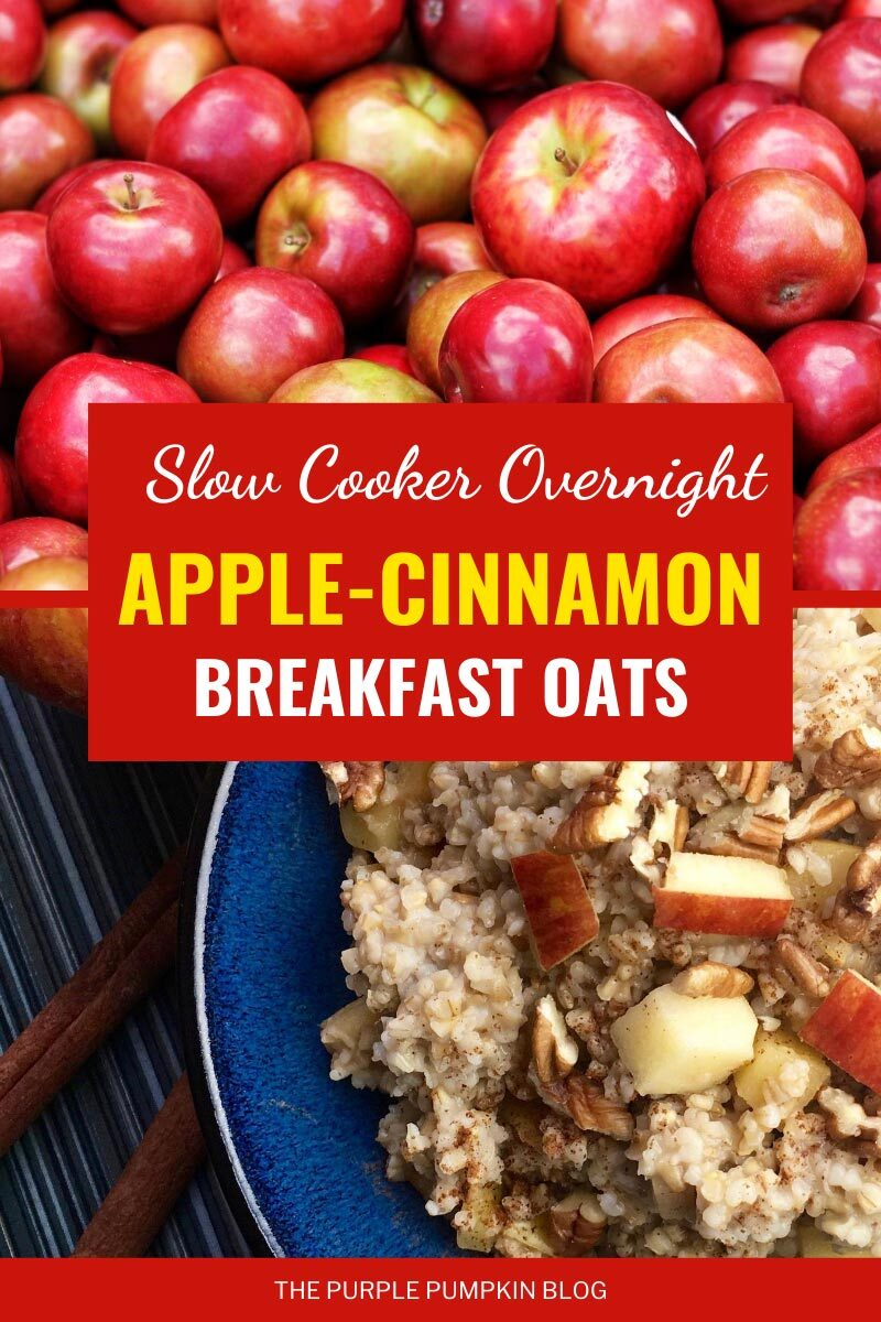 Slow Cooker Overnight Apple-Cinnamon Breakfast Oats