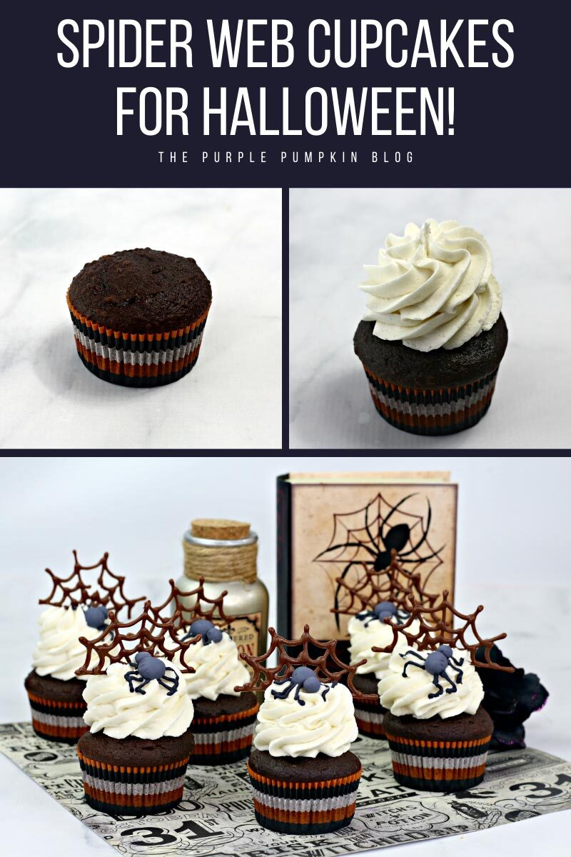Spider Web Cupcakes for Halloween