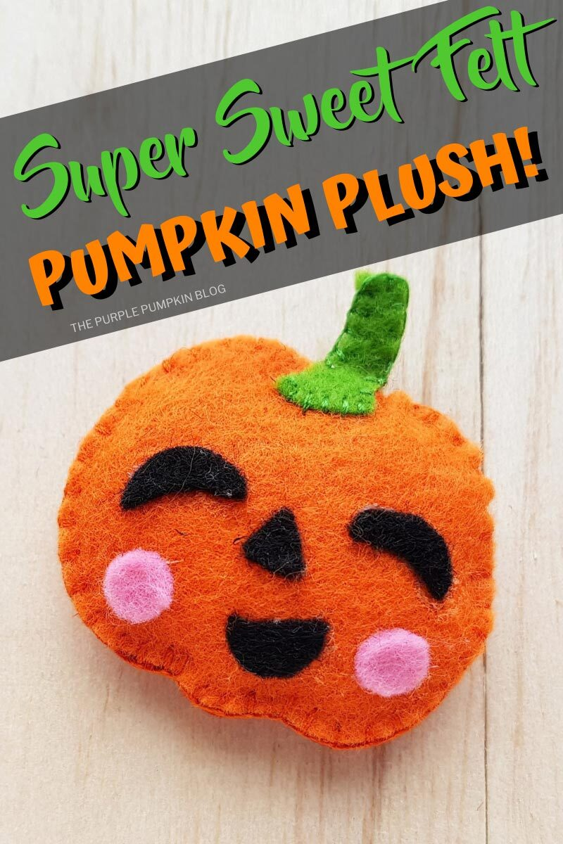 Super Sweet Felt Pumpkin Plush