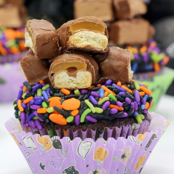 Trick or Treat Cupcakes with Twix