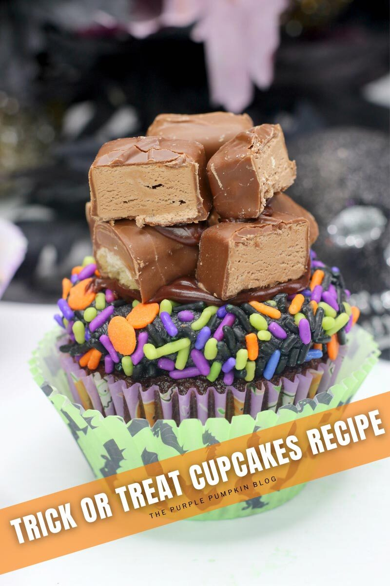 Twix Candy Trick or Treat Cupcakes Recipe