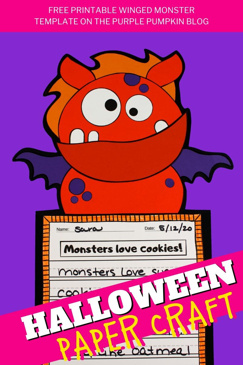 Winged Monster Halloween Paper Craft