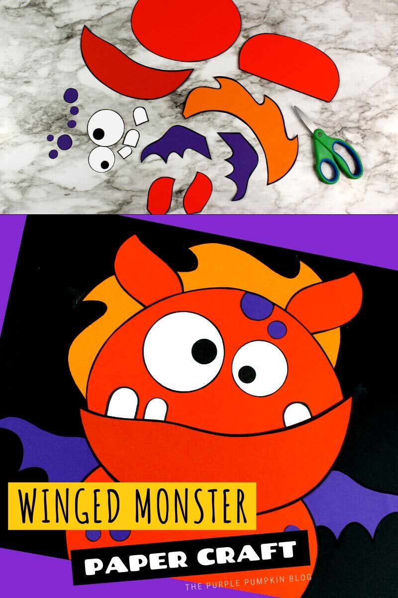 Winged Monster Paper Craft