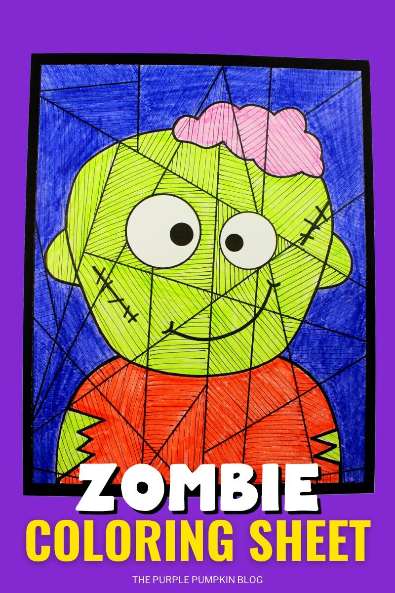 Free Printable Zombie Coloring Sheet
