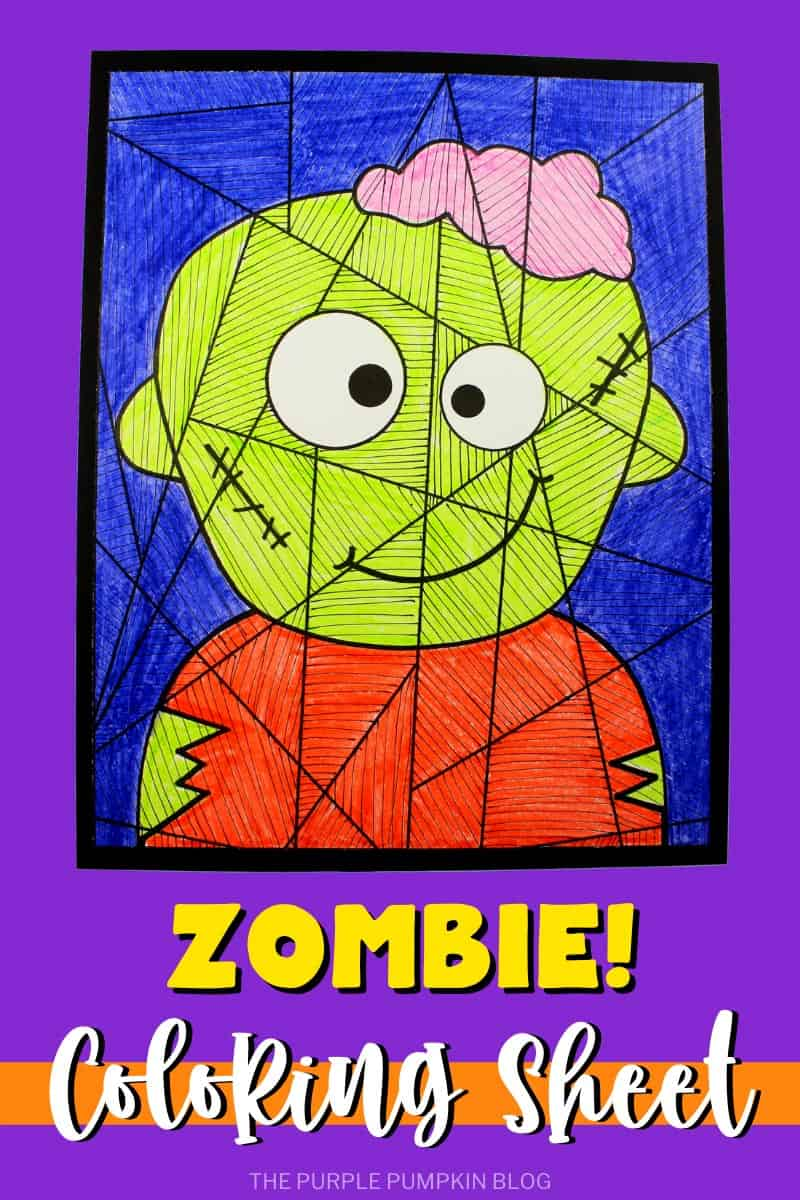 Zombie Coloring Sheet