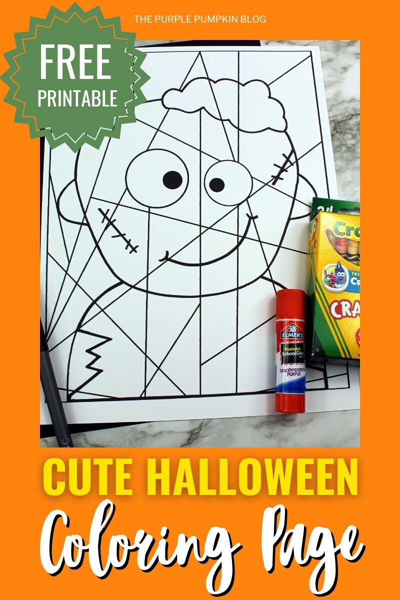 Zombie Free Printable Cute Halloween Coloring Page