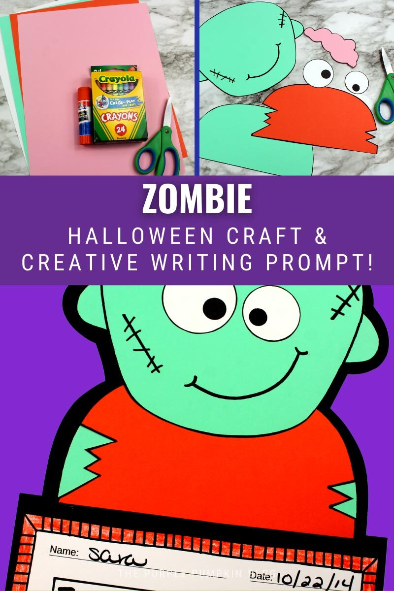 Zombie Halloween Craft & Creative Writing Prompt