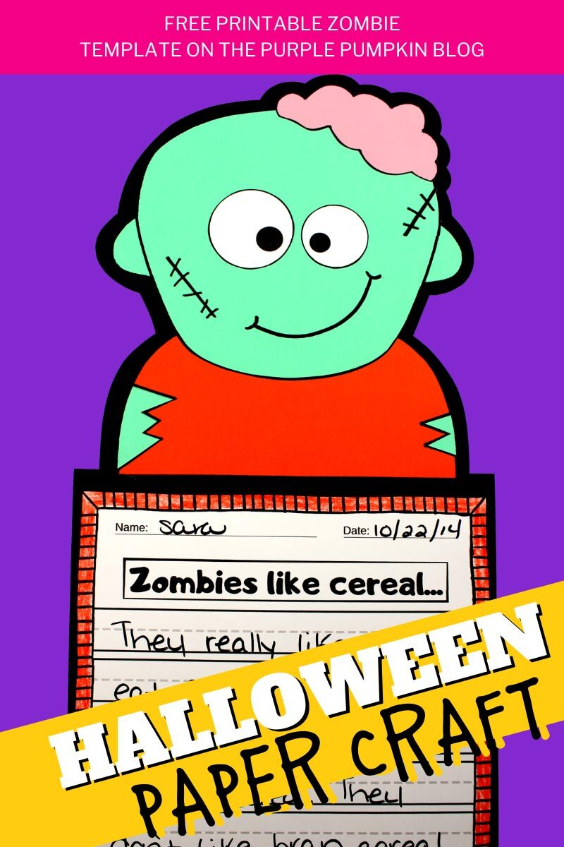Zombie Halloween Paper Craft