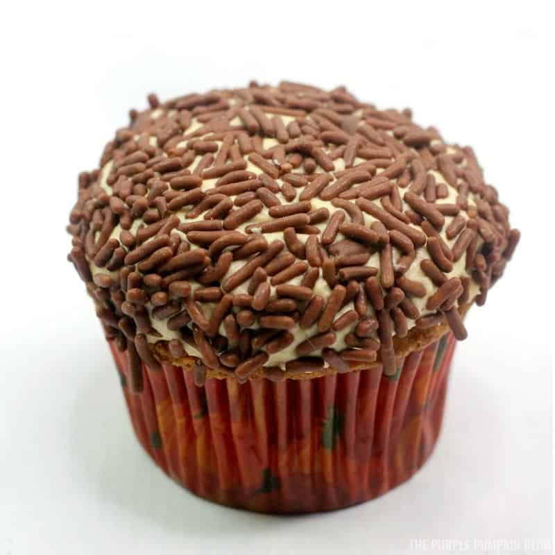 Chocolate sprinkles covering frosting